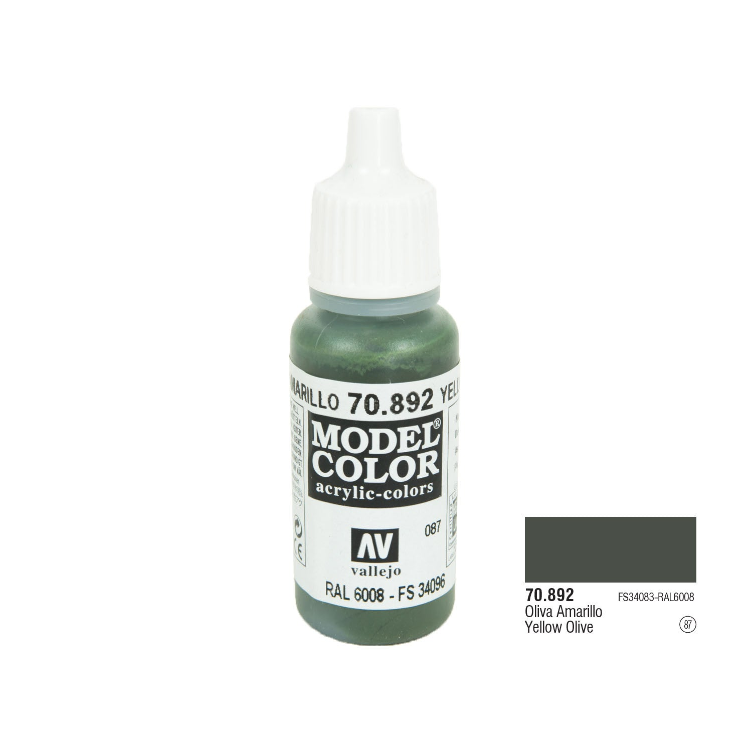 Vallejo 70.892 Model Color: Yellow Olive, 17ml