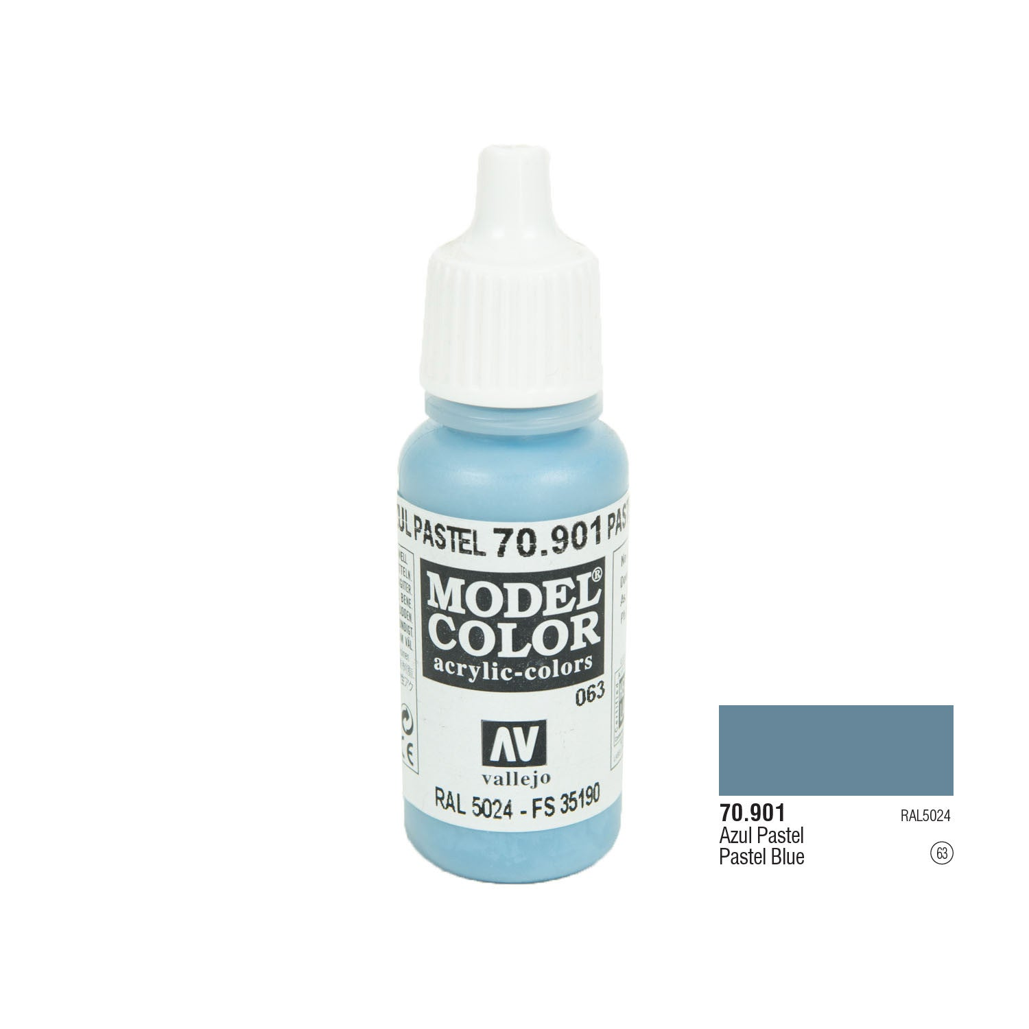 Vallejo 70.901 Model Color: Pastel Blue, 17ml