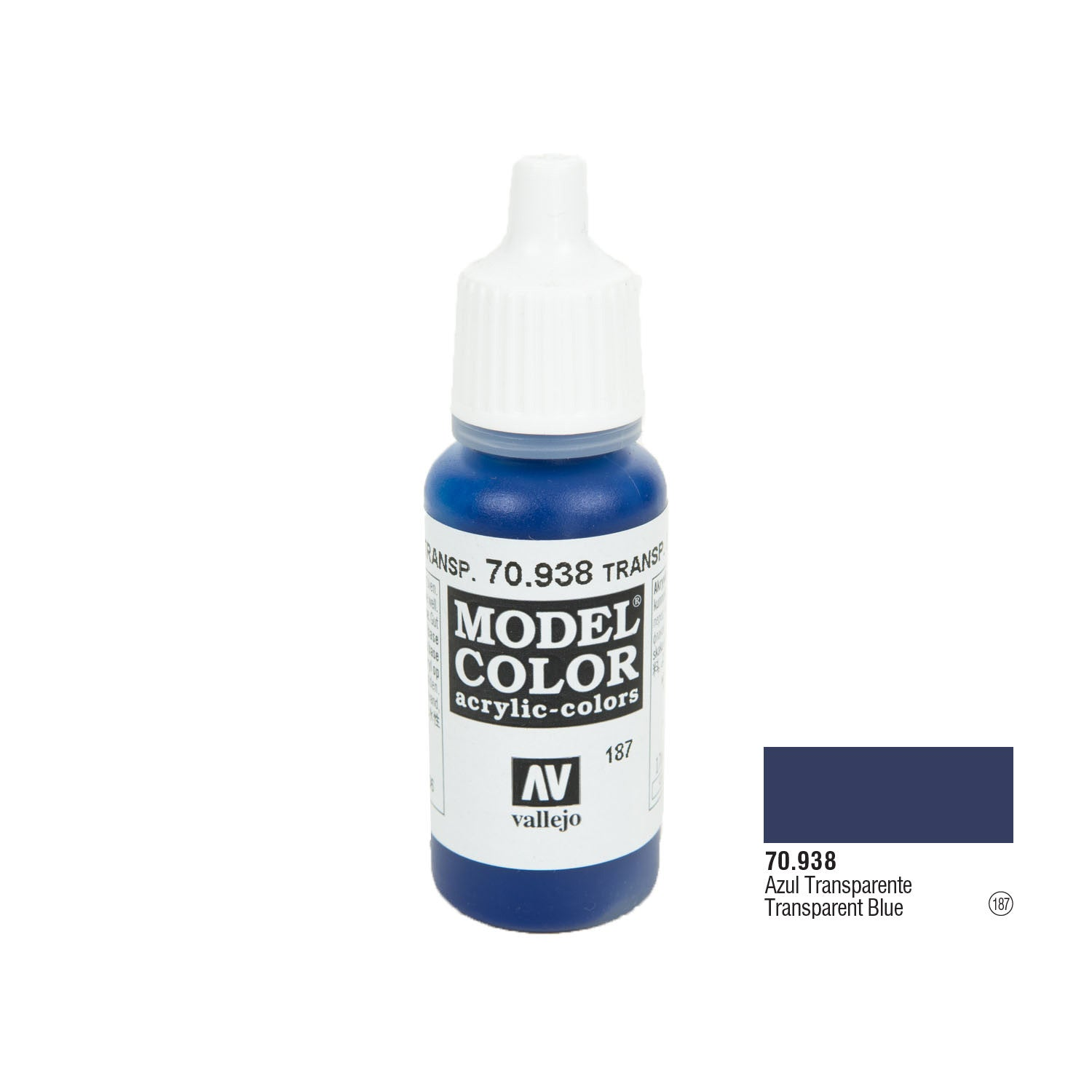 Vallejo 70.938 Model Color: Blue (transparent), 17ml