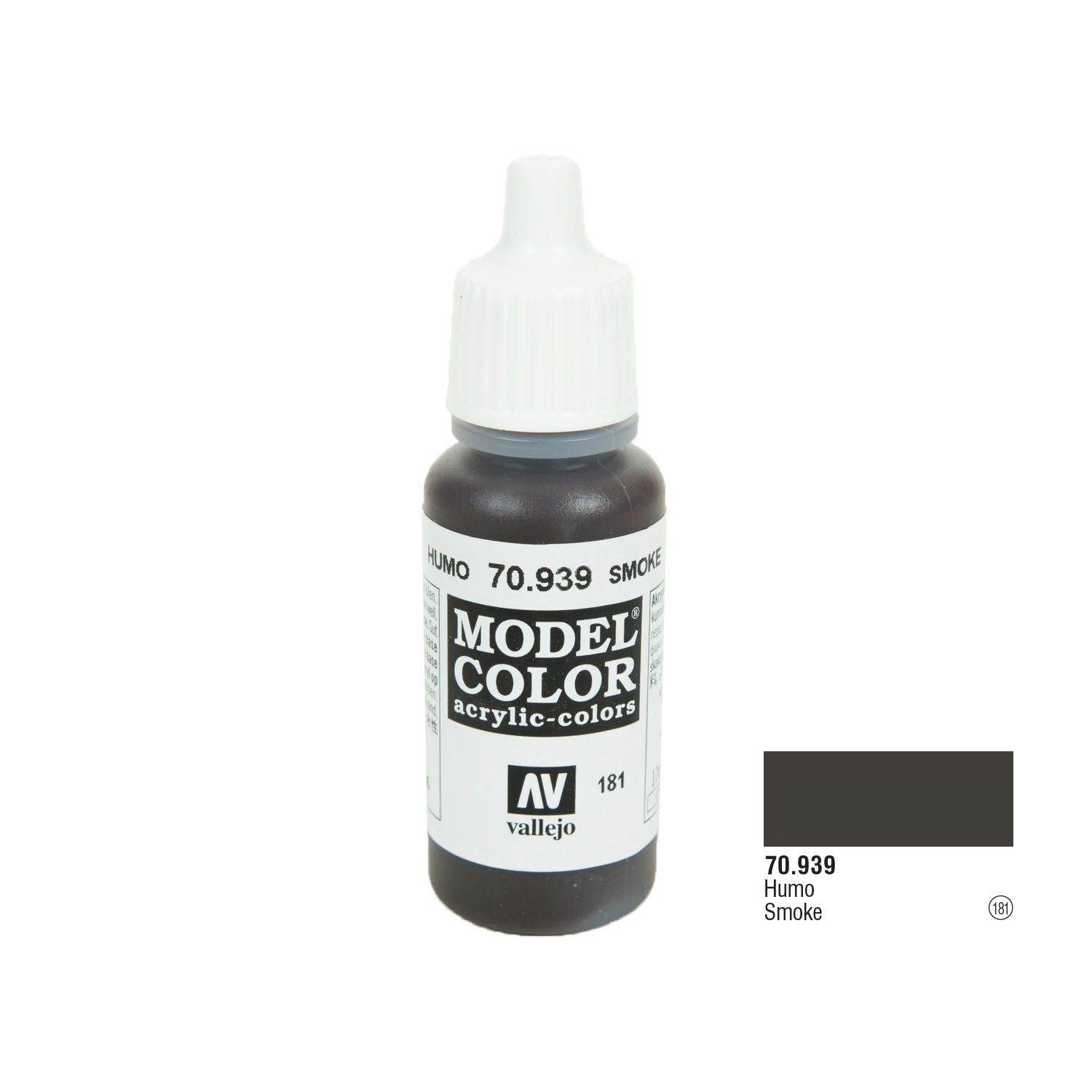 Vallejo 70.939 Model Color: Smoke (transparent), 17ml
