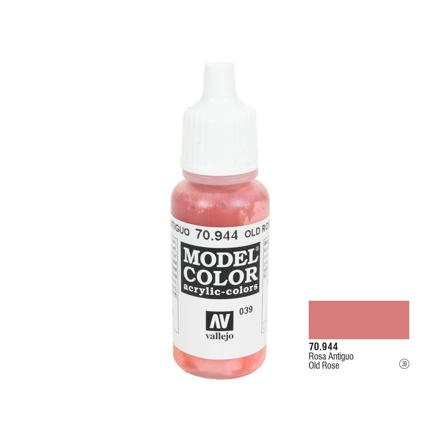Vallejo 70.944 Model Color: Old Rose, 17ml