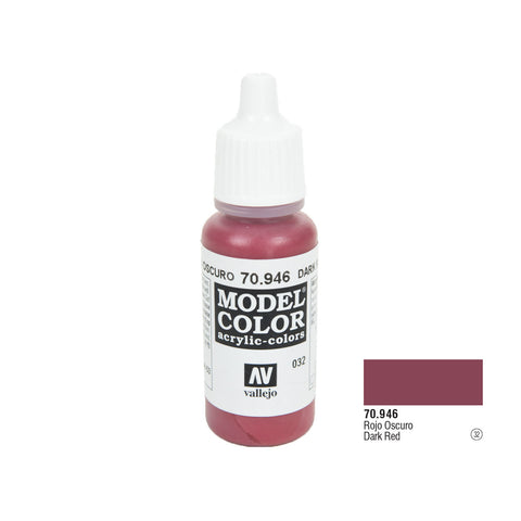 Vallejo 70.946 Model Color: Dark Red, 17ml