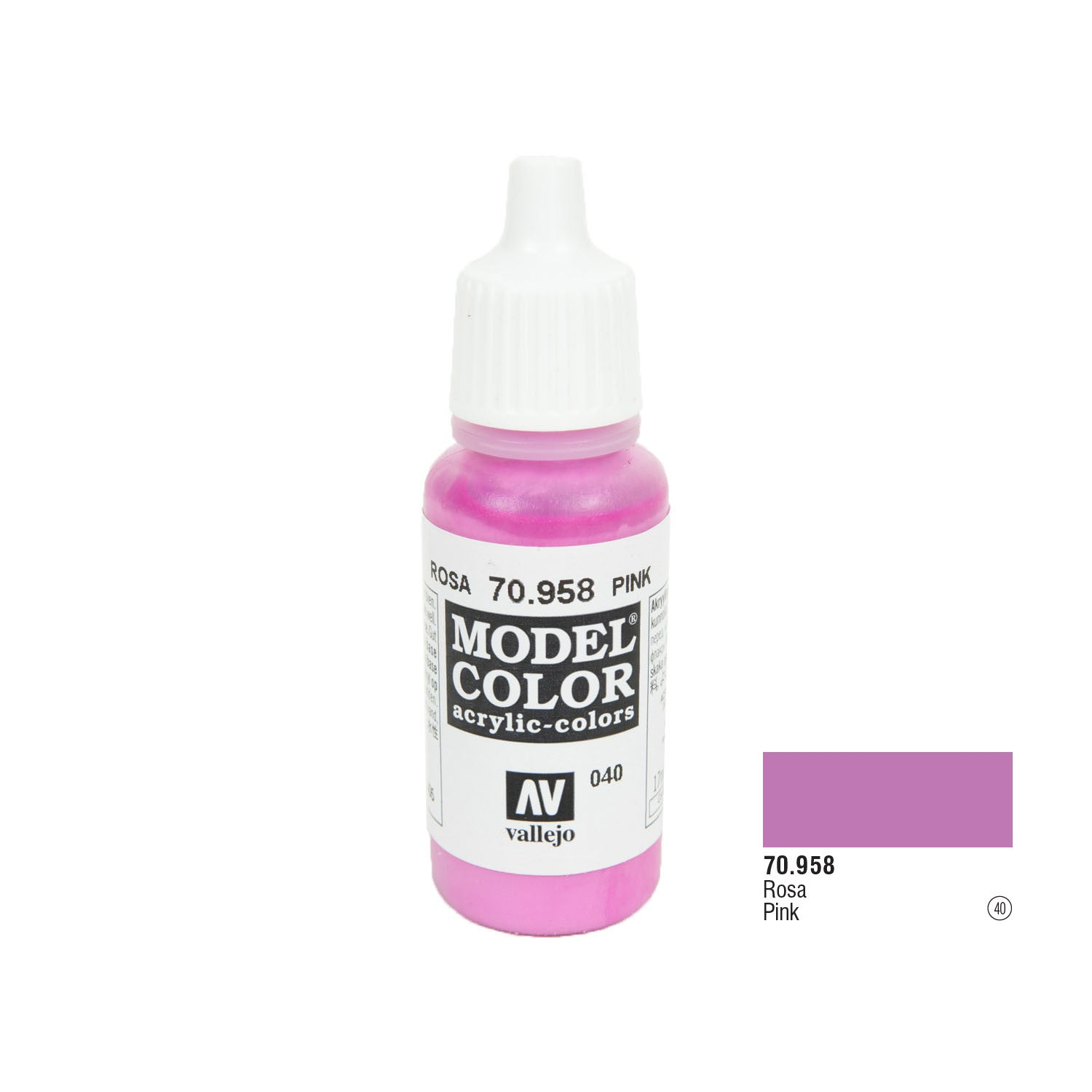 Vallejo 70.958 Model Color: Pink, 17ml