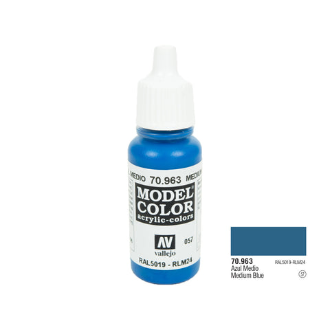 Vallejo 70.963 Model Color: Medium Blue, 17ml