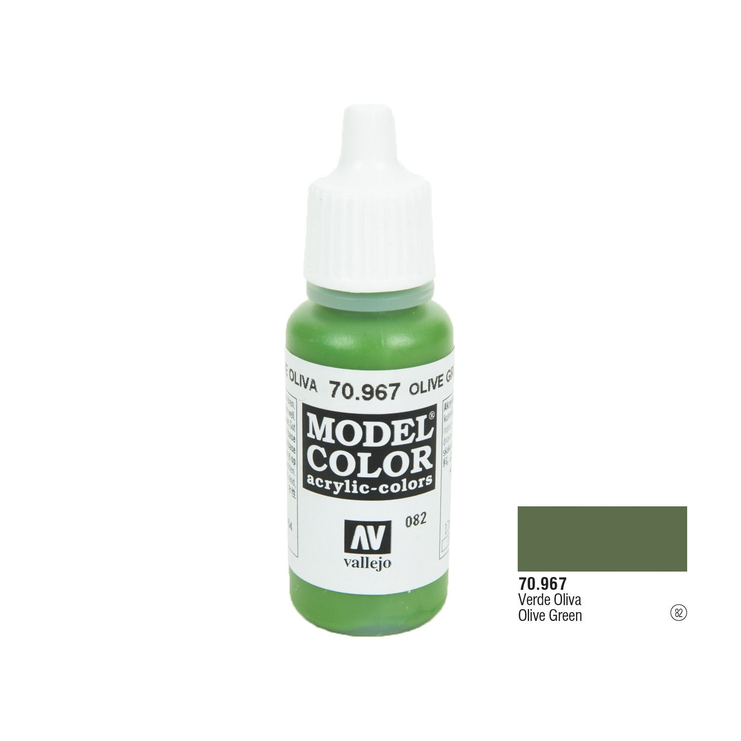 Vallejo 70.967 Model Color: Olive Green, 17ml
