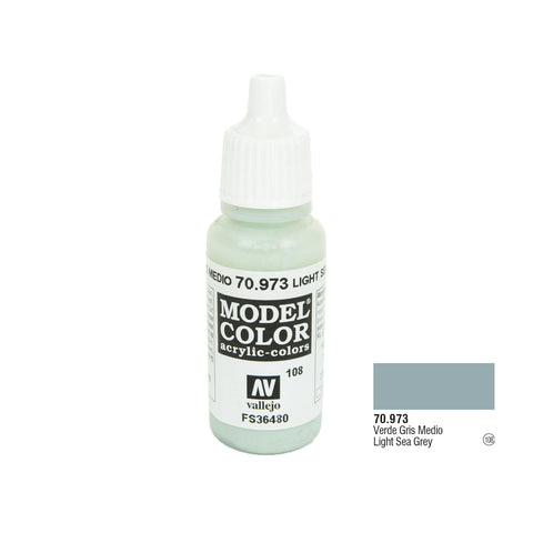 Vallejo 70.973 Model Color: Light Sea Grey, 17ml