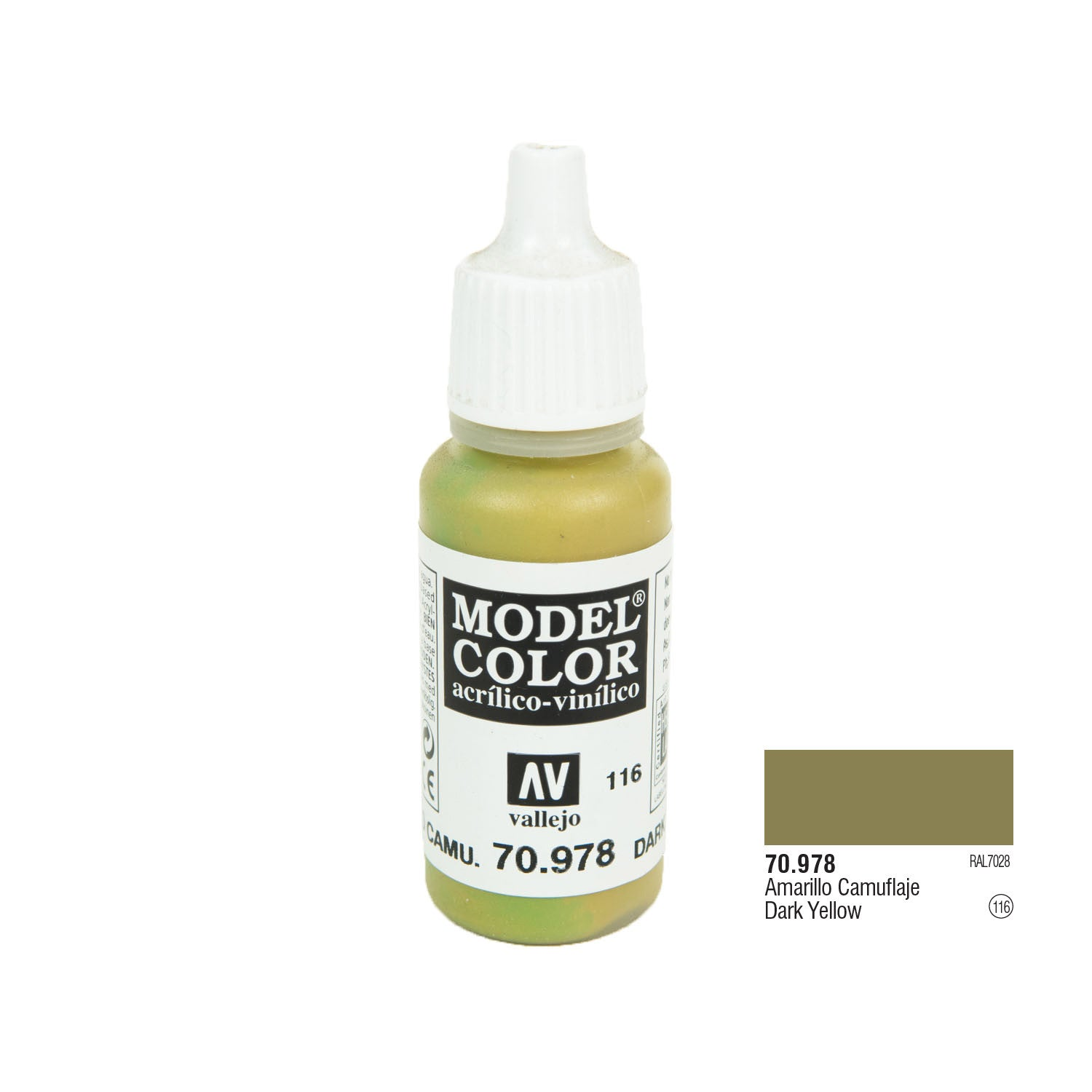 Vallejo 70.978 Model Color: Dark Yellow, 17ml
