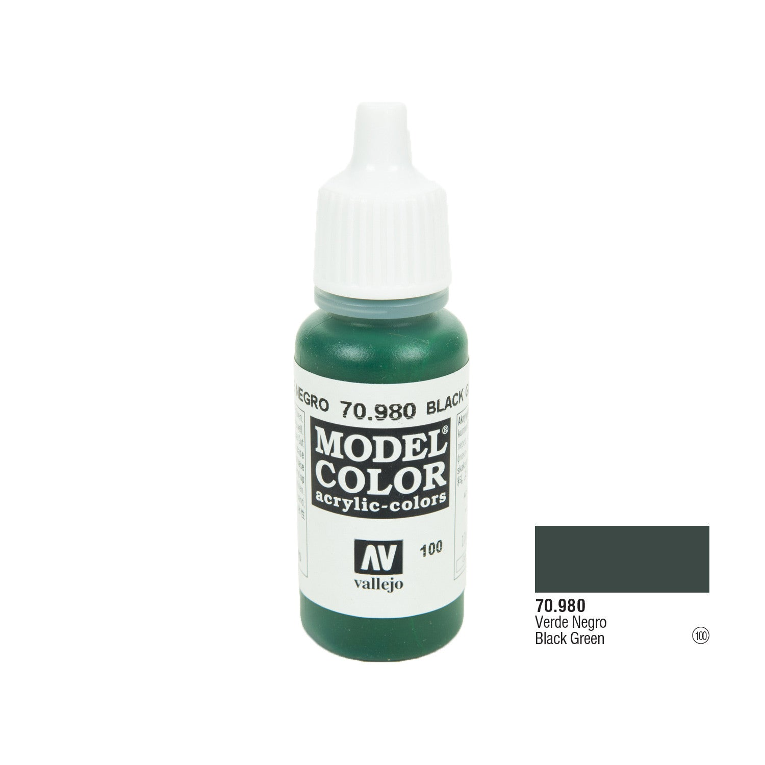 Vallejo 70.980 Model Color: Black Green, 17ml