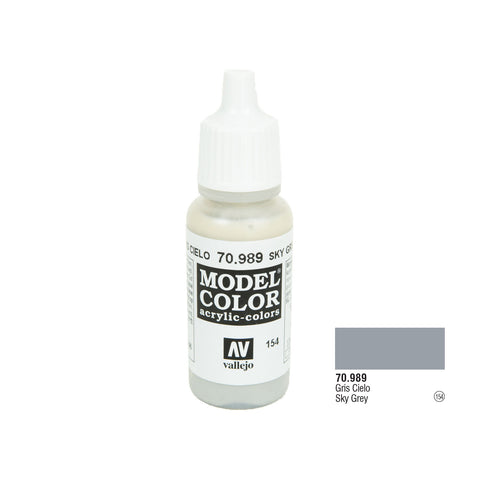 Vallejo 70.989 Model Color: Sky Grey, 17ml