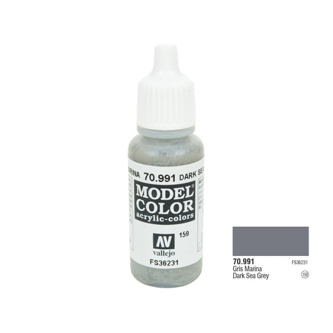Vallejo 70.991 Model Color: Dark Sea Grey, 17ml