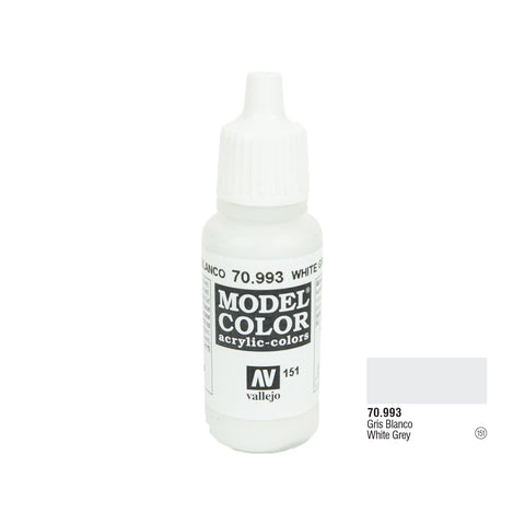 Vallejo 70.993 Model Color: White Grey, 17ml