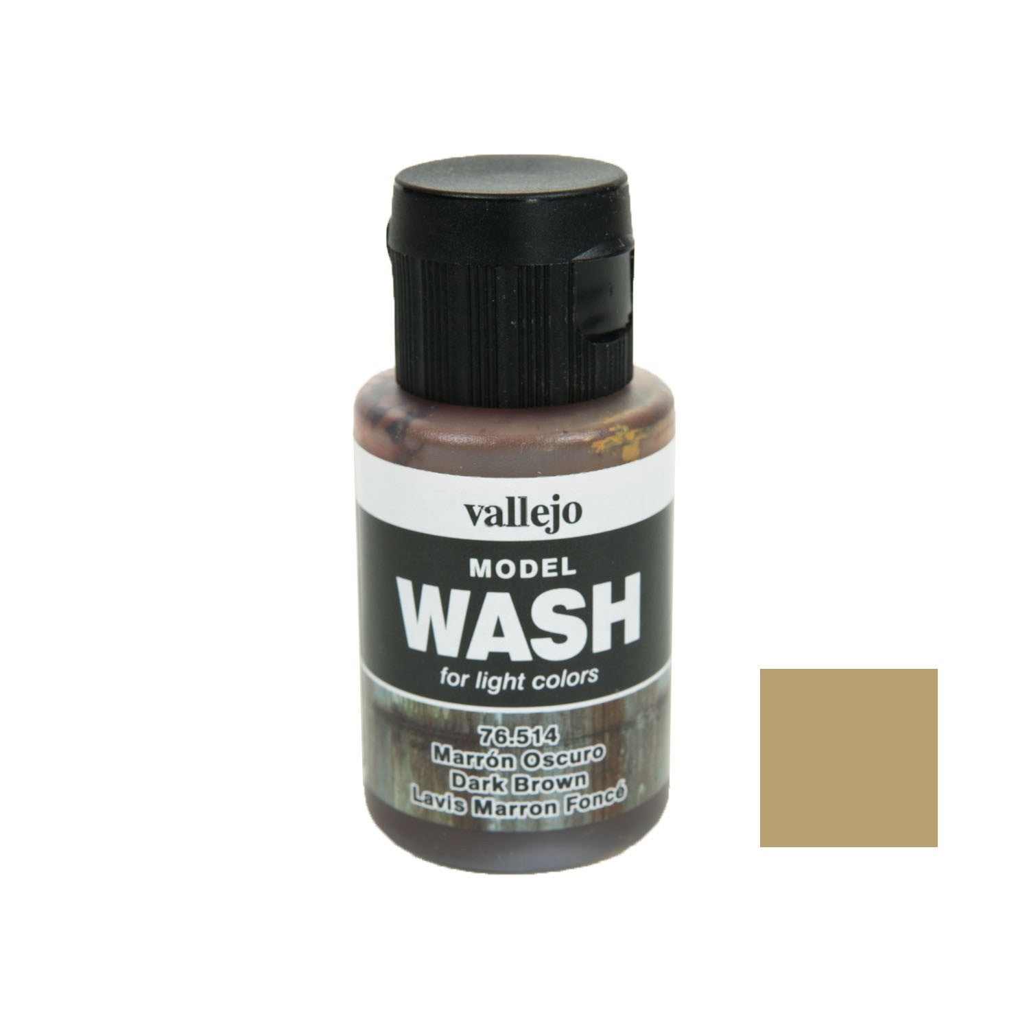 Vallejo 76.514 Model Wash: Dark Brown, 35ml
