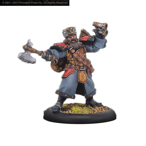 Warmachine: Khador - Winter Guard Artillery Kapitan (1)