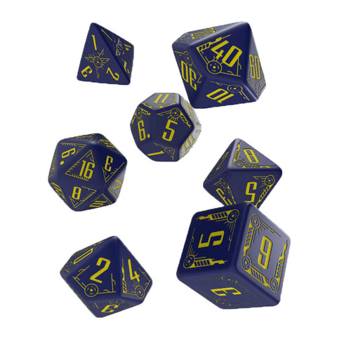 Galactic Dice Set Navy & Yellow