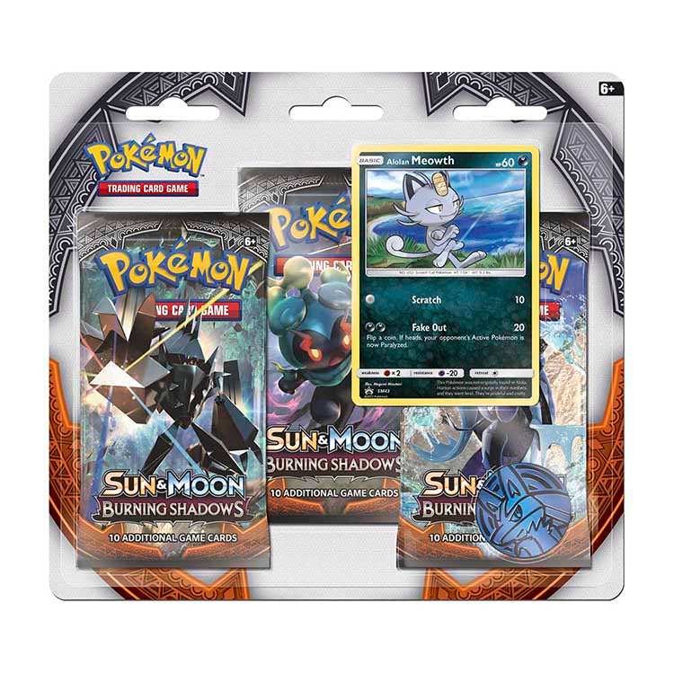 Pokemon TCG Sun & Moon: Burning Shadows 3-Booster Blister Alolan Meowth