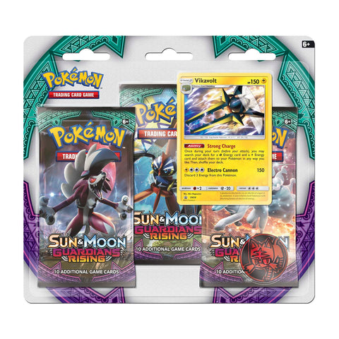 Pokemon TCG Sun & Moon: Guardians Rising 3-Booster Blister Vikavolt