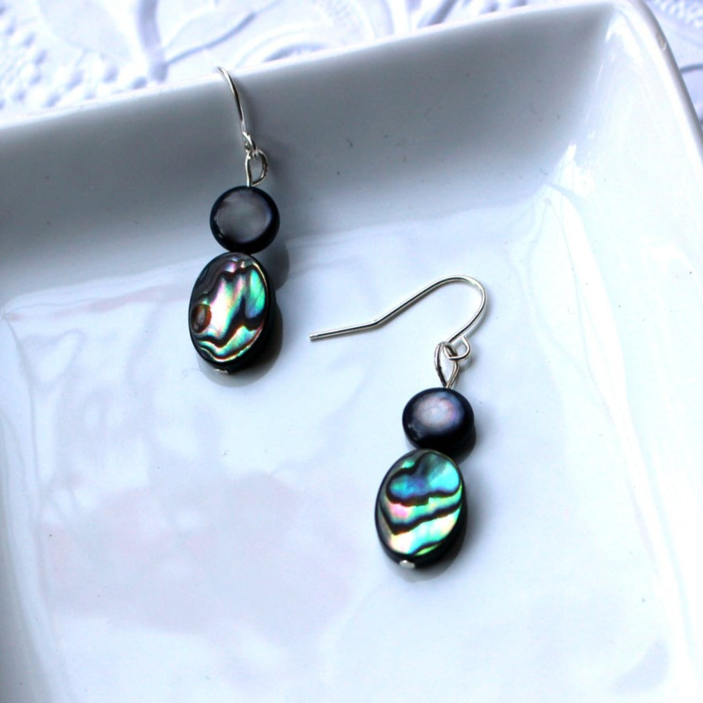 Beautiful Abalone Shell Drop Earrings