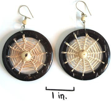 coconut earrings, dream catchers