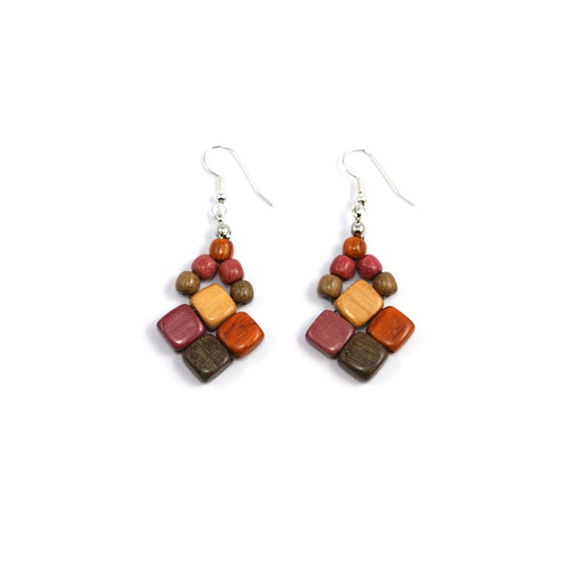 Exotic Wood Earrings - Dara