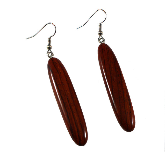 Rosewood Long Drop Earrings - Padua