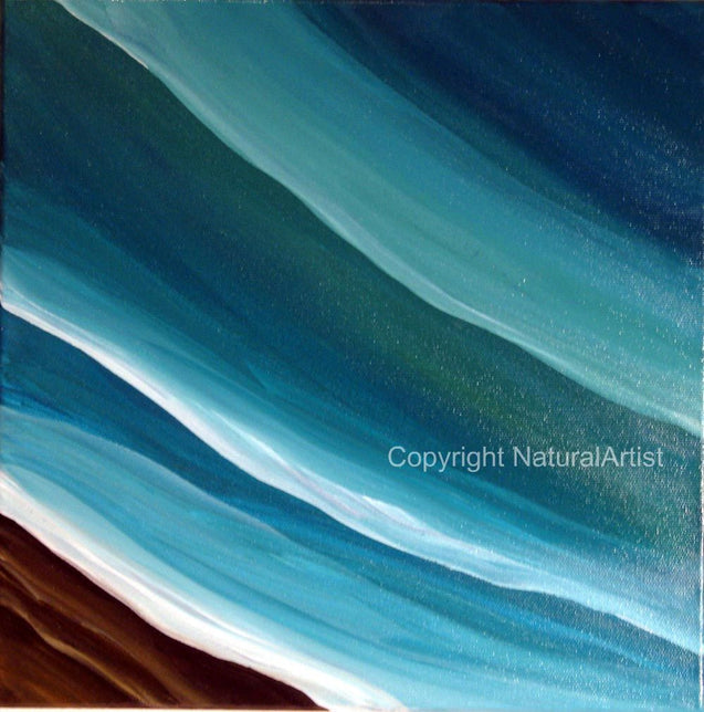 Blue Green Sea Original Painting