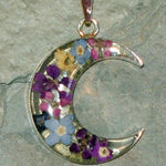 Real Flower Moon Pendent - Meadow