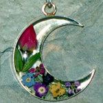 Real Flower Moon Pendent - Rose