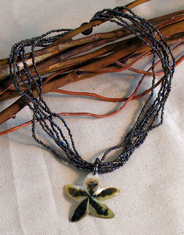 Beaded Star Shell Necklace
