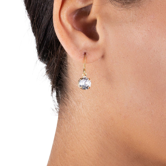Swarovski Crystal Earrings - Crystal Gold Earrings - Drop Earrings - Limited Edition Earrings
