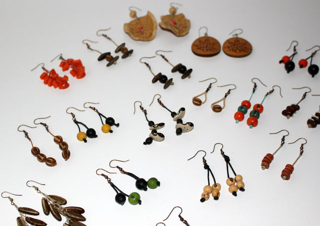 Light Bulk Wholesale Rain Forest Seed Dangle Earrings