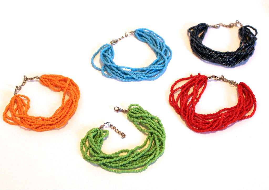 Wholesale Colorful Beaded Multi Strand Mayan Bracelets