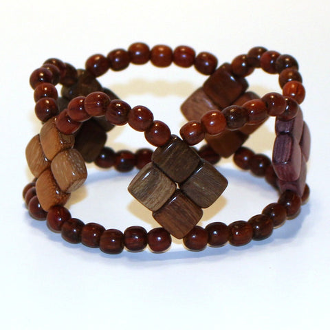 Large Wood Bracelet - Capri