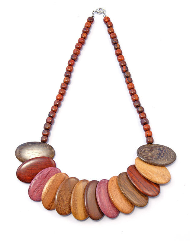 Exotic Wood Necklace - Aura