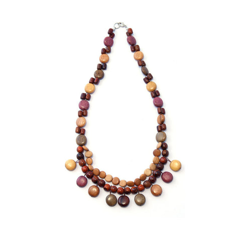 Exotic Wood Necklace - Camilla