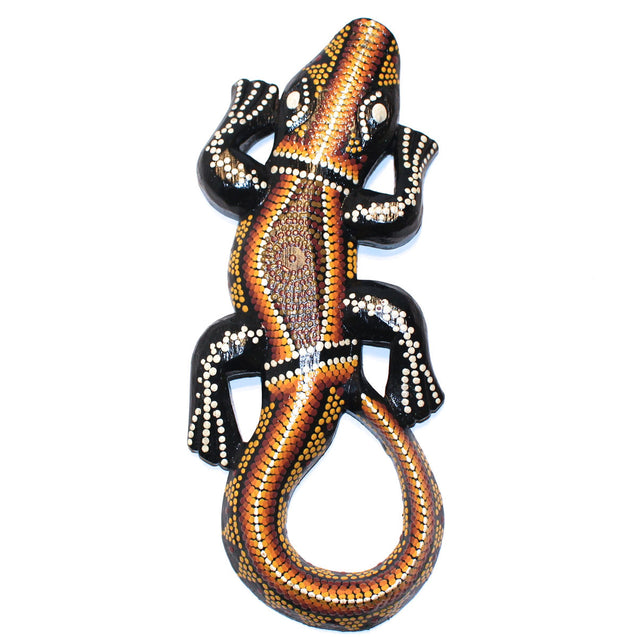 Bali Painted Wood Lizard - Lago