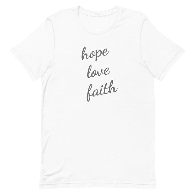 Hope Love Faith Short-Sleeve T-Shirt