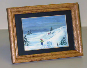 Winter Miniature Print - Snow Angel