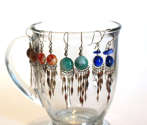 Wholesale Alpaca Silver Murano Glass Dangle Earrings