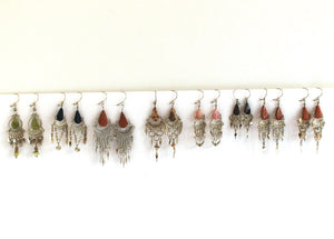 Wholesale Alpaca Silver Stone Dangle Earrings