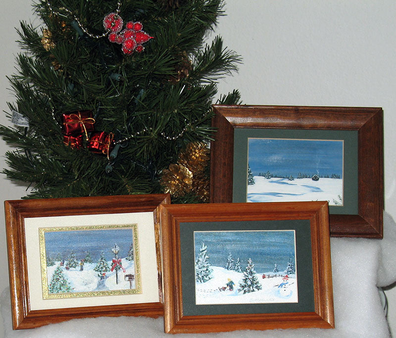 Winter Miniature Print - Tree of Light