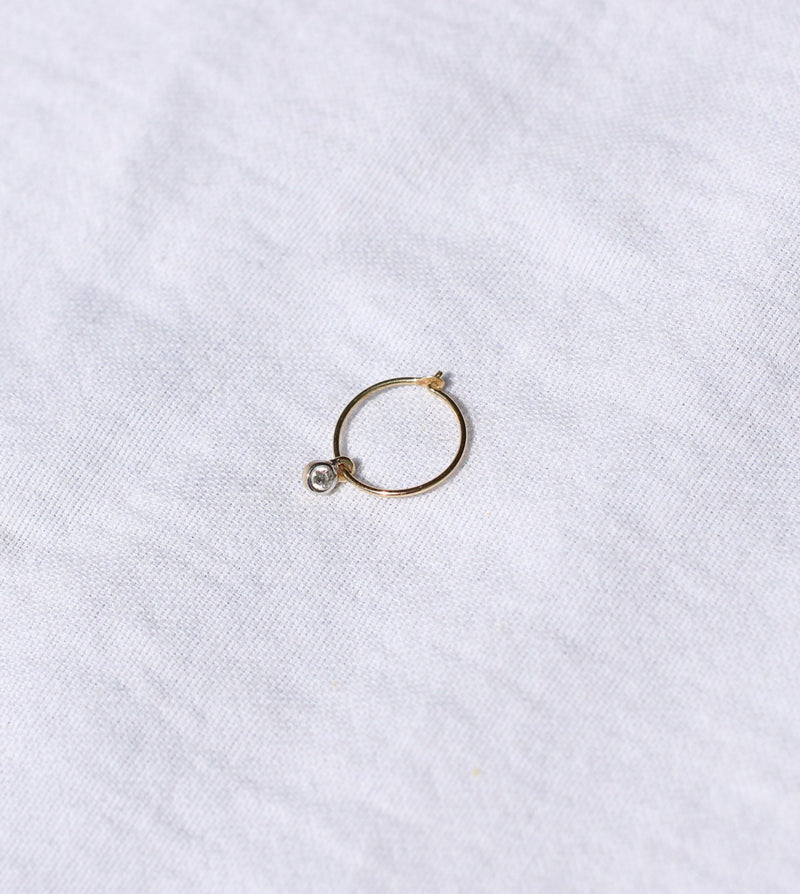 Tiny Diamond Hoop