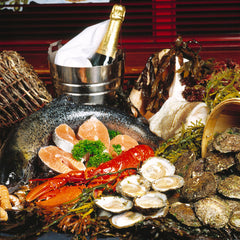 Gourmet spread, Irish seafood