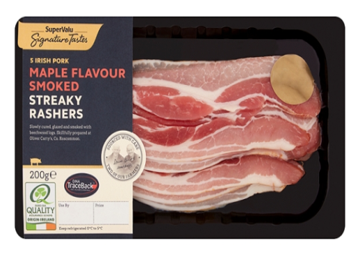 SIGNATURE BY OLIVER CARTYS MAPLE FLAVOUR SMOKED STREAKY RASHERS- 200G- 10.20 SGD