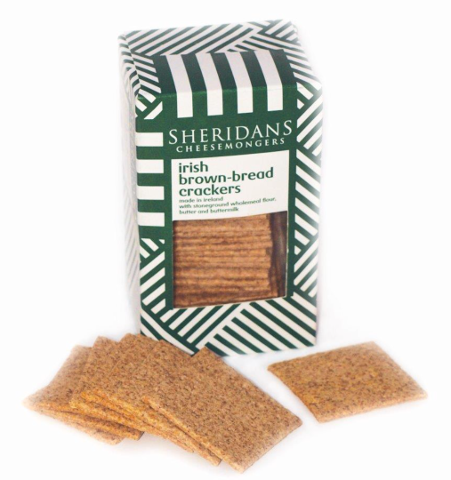 Sheridan's handmade brown bread crackers 140g