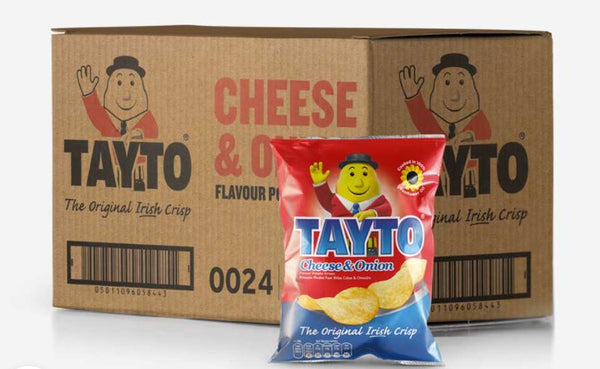CHRISTMAS SPECIAL Tayto Cheese & Onion Crisps 45g X 24 PACK - $55.00