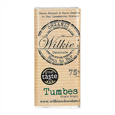Wilkies Tumbes 75% Organic Dark Chocolate 65g