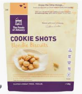 Foods of Athenry Gluten Free Cookie Shots, Bite Size Blondie Biscuits 120g $6.10