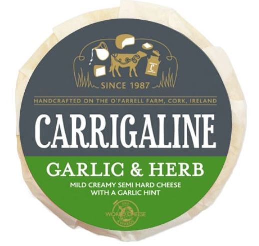 Carrigaline Irish Artisan cheese Garlic and Herb