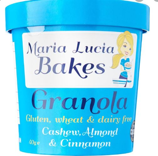 Maria Lucia Bakes Gluten Free Cashew, Almond and Cinnamon ON-THE-GO POT $3.40