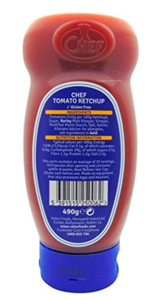 CHEFS Tomato Ketchup Squeezy Bottle 490g 8.00SGD